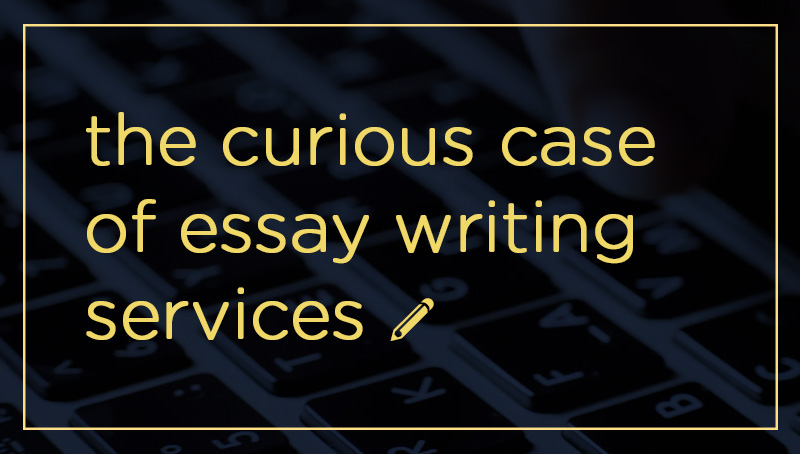 The Curious Case of Essay Writing Services