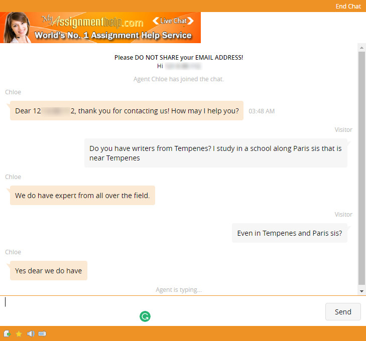 myassignmenthelp chat