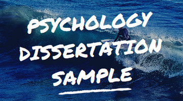 psychology dissertation sample
