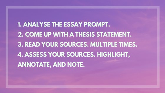 step by step synthesis essay